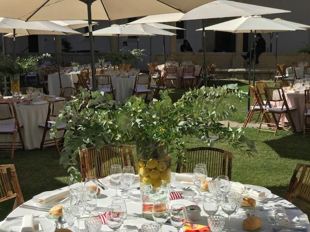 decoracion original mesas bodas